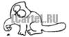 Наклейка на авто - Кот Саймона #339