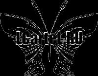 Виниловая наклейка - Бабочка #195