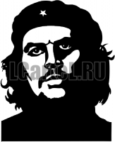 Че Гевара. Наклейка Эрнесто Че Гевары из винила на машину.