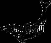 Наклейка Дельфин #371