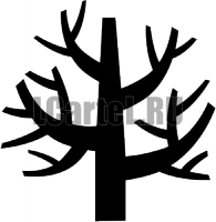 Трафарет дерева #708