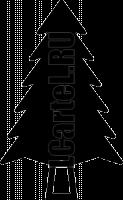 Трафарет елки #709