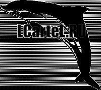 Трафарет - Дельфин