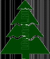 Елка трафарет. Новогодний рисунок елки для трафарета из майлара.