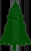 Трафарет Ёлки. Новогодний рисунок елки для трафарета.