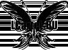 Виниловая наклейка - Бабочка #188