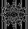 Новогодние наклейки. Снежинка на стекло.