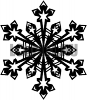 Шаблоны снежинок. Рисунок снежинки для шаблона под наклейку.