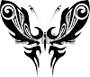 Трафарет Бабочка #427